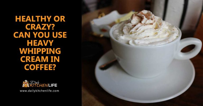 can you use heavy whipping cream in coffee